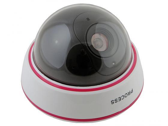 Муляж камеры видеонаблюдения ORIENT AB-CA-07D мигает датчик движения полусфера большая муляж камеры видеонаблюдения orient ab ca 11b черный led мигает