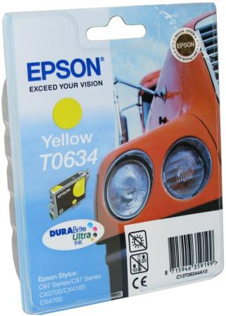 Картридж Epson C13T06344A10 для Stylus C67 C87 CX3700 CX4100 CX4700 Yellow Желтый el c67 color ink jet cartridges for epson c67 c87 cx3700 cx4700 cx4100 printers