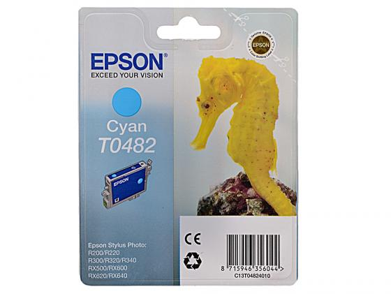 Картридж Epson C13T04824010 для R200 R220 R300 R320 R340 RX500 RX600 RX620 Cyan Голубой ciker new preppy style 4pcs set women printing canvas backpacks high quality school bags mochila rucksack fashion travel bags