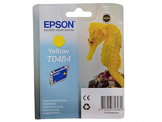 Картридж Epson C13T04844010 для R200 R220 R300 R320 R340 RX500 RX600 RX620 Yellow Желтый color ink jet cartridge for epson stylus photo rx500 rx600 r300 r300m r200 r220 r320 r340 rx620