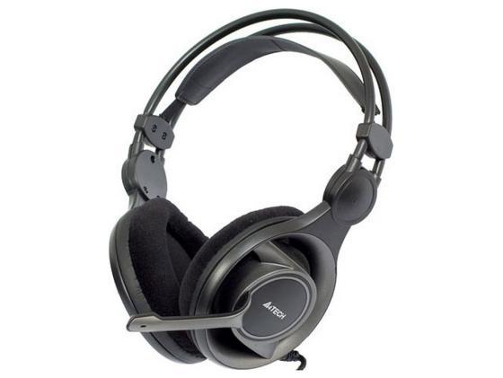 Гарнитура A4Tech HS-100 Black рег.громк.крепеж к монитору a4tech hs 60 black