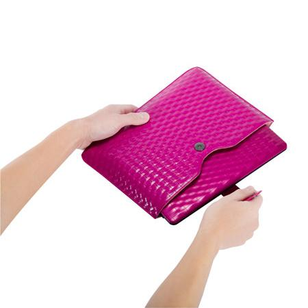 "все цены на Чехол для ноутбука 10"" ASUS Index Sleeve KR Collection кожа розовый 90-XB0J00SL00030 онлайн"