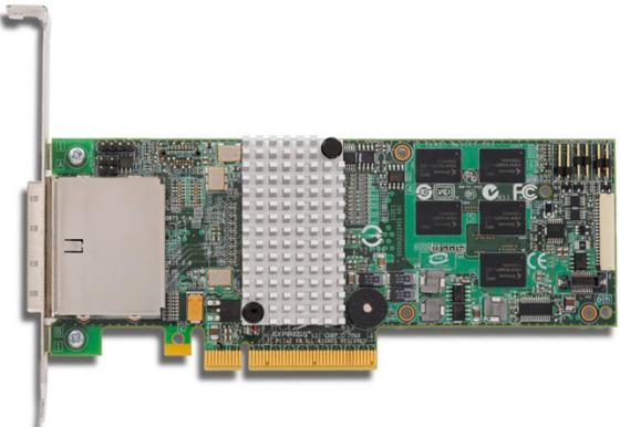 Контроллер SAS/SATA LSI MegaRAID SAS9280-8E, PCI-E 2.0 8x, RAID 0/1/5/6/10/50/60, 8 port, 512Mb cache [LSI00205] Single pci e to