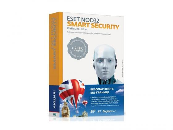 Антивирус ESET NOD32 Smart Security Platinum Edition на 24 мес на 3ПК коробка NOD32-ESS-NS-BOX-2-1 программный продукт eset nod32 smart security family регистрационный ключ на 5 пк на 1 год box nod32 esm ns box 1 5