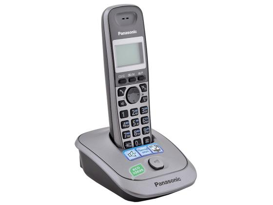 Радиотелефон DECT Panasonic KX-TG2511RUM серый радиотелефон dect panasonic kx tg6822rum серый металлик