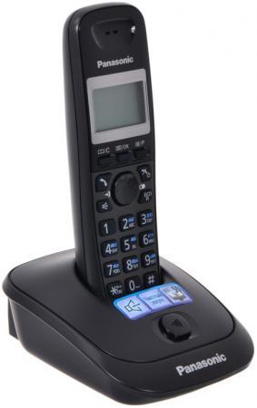 Радиотелефон DECT Panasonic KX-TG2511RUT темно-серый металлик радиотелефон dect panasonic kx tg6712rum серый