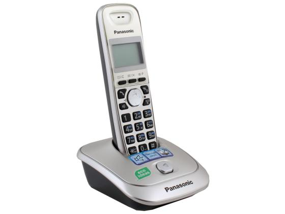 Радиотелефон DECT Panasonic KX-TG2511RUN платиновый радиотелефон dect panasonic kx tgj310rub черный