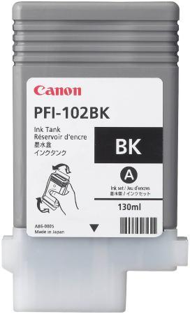 Картридж Canon PFI-102BK для Canon iPF510 605 610 650 655 750 760 765 755 LP17 90мл черный картридж струйный canon pfi 102m 0897b001 пурпурный для canon ip f510 605 610