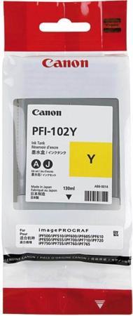 Картридж Canon PFI-102Y для iPF510 605 610 650 655 750 760 765 LP17 130мл желтый 0898B001 картридж canon pfi 104m пурпурный для canon ipf650 655 750 755 130мл