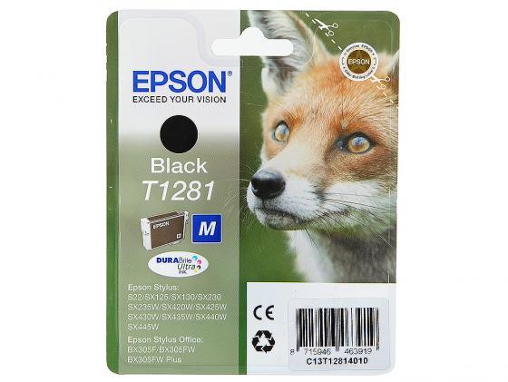 Фото - Картридж Epson C13T12814021 для S22 SX125 Black Черный С13Т12814012/С13Т12814011 кромка marbet трикотаж хлопок 42 х 6 см цвет бежевый 006