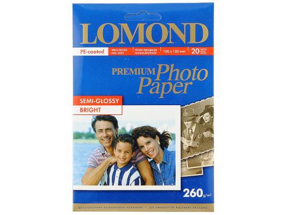 Фотобумага Lomond 10*15 260г/кв.м односторонняя полуглянцевая 20л 1103302 lomond 6 260 20