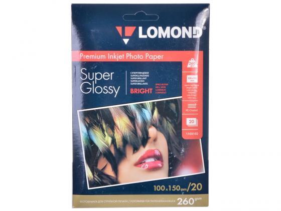 Фото - Фотобумага Lomond 10*15 260г/кв.м суперглянецевая 20л 1103102 блокнот mini moustaches а6