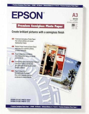 Бумага Epson A3 251 г/кв.м Premium Semiglossy Photo Paper [C13S041334] 20л бумага цв а4 20л 10цв хобби тайм 2 вида