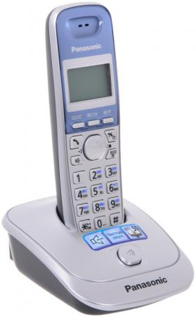 Радиотелефон DECT Panasonic KX-TG2511RUS серебристый радиотелефон panasonic kx tg2511rus
