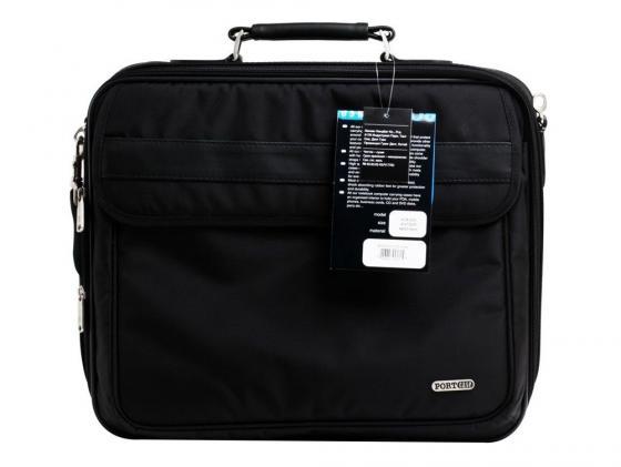 """все цены на Сумка для ноутбука 15.6"""" Porto KCB-X02 нейлон полиэстер черный"""