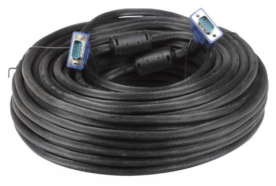 Кабель VGA 30м VCOM Telecom 2 фильтра VVG6448-30M кабель переходник 0 2м vcom telecom mini displayport vga vhd6070
