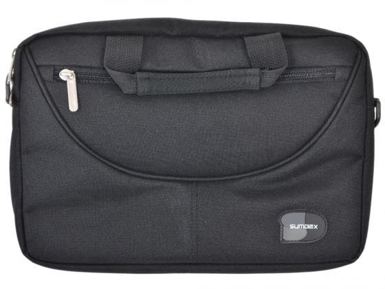 """Сумка для ноутбука 10"""" Sumdex PON-308BK нейлон-полиэстер черный цена и фото"""