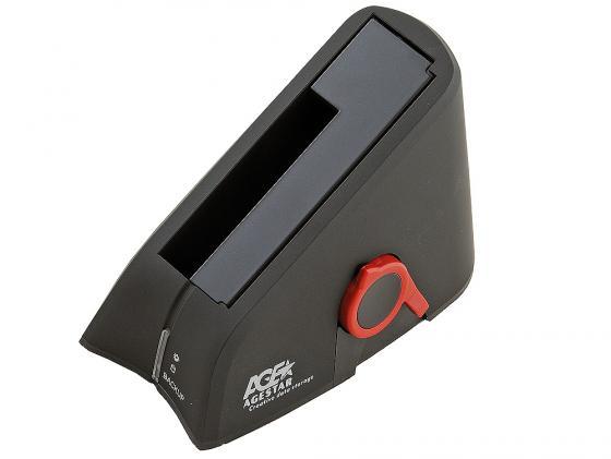 Док станция для HDD 2.5/3.5 SATA AgeStar SUBT USB2.0 черный рюмка бюро находок сними напряжение цвет прозрачный