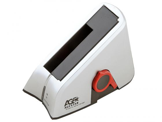 Док станция для HDD 2.5/3.5 SATA AgeStar 3UBT USB3.0 серебристый адаптер usb bluetooth v 2 0 mobiledata ubt 208