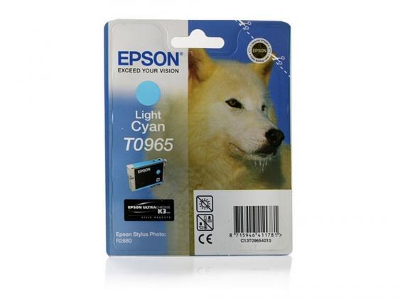 Картридж Epson C13T09654010 для Epson Stylus Photo R2880 светло-синий цена и фото