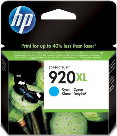 Картридж HP CD972AE №920XL для Officejet 6000 6500 7000 голубой hp 920xl cd972ae blue