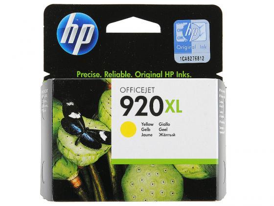 Картридж HP CD974AE №920XL для Officejet 6000 6500 7000 желтый brother tze611 yelllow black лента для матричного принтера 6 мм