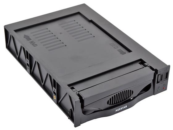 Салазки для жесткого диска (mobile rack) для HDD 3.5 AGESTAR SR3P(SW)-3F SATA черный материнская плата asrock q1900tm itx