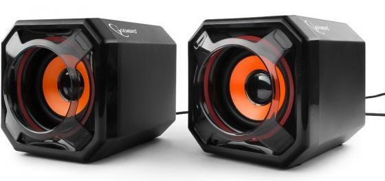 Колонки Gembird SPK-405, USB, черная, 6Вт, овальный динамик 50x90мм, 80x80x160мм