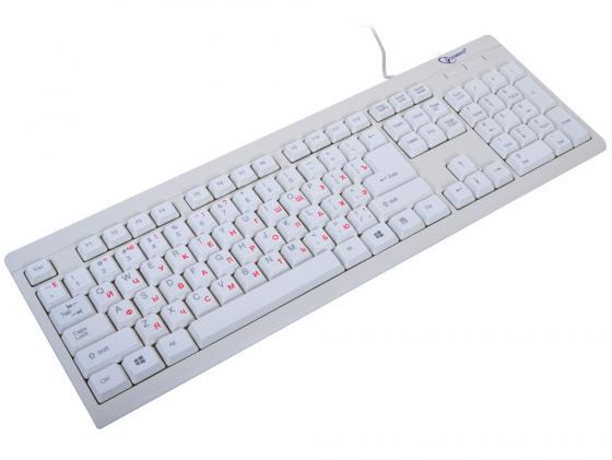 Клавиатура проводная Gembird KB-8300U-R USB белый цена