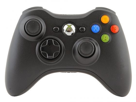 Геймпад Microsoft Xbox 360 NSF-00002 черный беспроводной