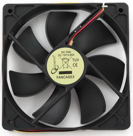 Вентилятор Gembird FANCASE3 для СБ 120x120x25 3pin вентилятор gembird fancase3 ball 120mm