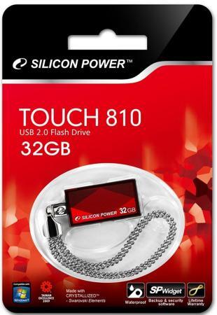 Флешка USB 32Gb Silicon Power Touch 810 SP032GBUF2810V1R красный ants 4 гб флешка диск usb usb 2 0 металл m105 4
