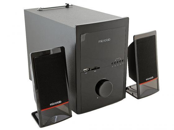 Колонки Microlab M700U 2х14 + 18 Вт USB SD дерево черный колонки microlab m300 2х4 8 вт черный