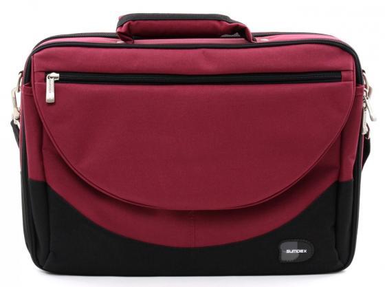 Купить со скидкой Сумка для ноутбука 15.6 Sumdex PON-302RD нейлон/полиэстер красный
