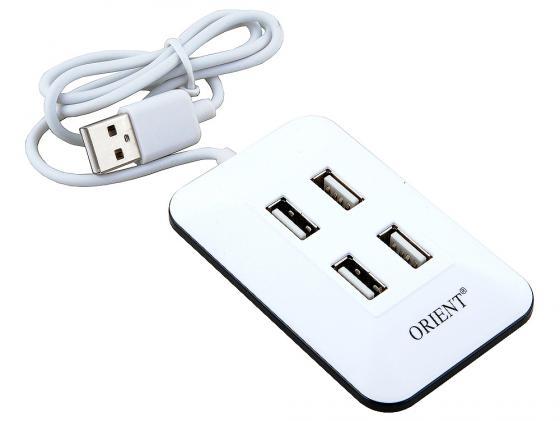 Концентратор USB 2.0 ORIENT MI-430 4 x USB 2.0 белый от Just.ru