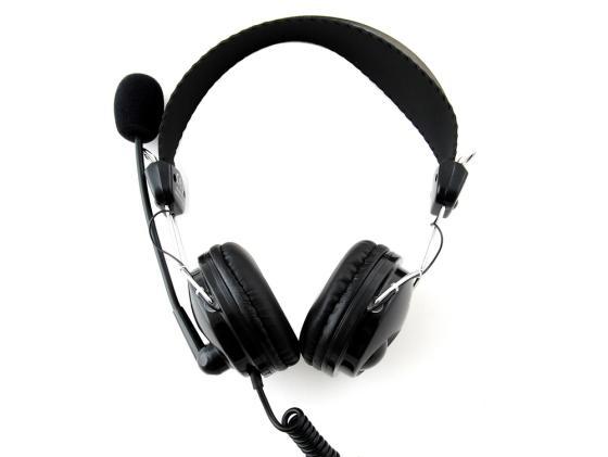 Гарнитура A4Tech HS-7P черный микрофон a4tech mi 10