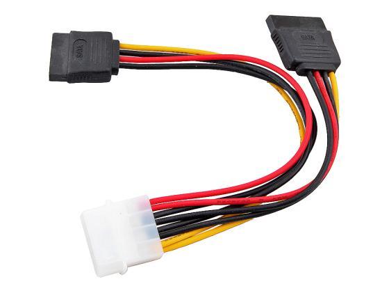Переходник питания на 2 HDD Serial ATA VCOM Telecom VPW7572 аксессуар переходник питания vcom 1big to 2xsata vpw7572