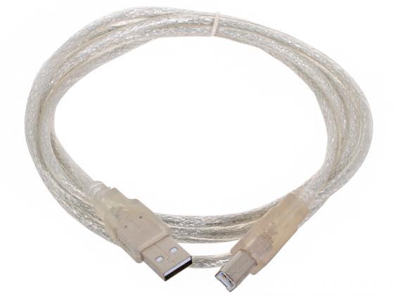 Кабель USB 2.0 AM-BM 1.8м VCOM Telecom прозрачная изоляция VUS6900-1.8MTP кабель usb 2 0 am bm 3м telecom page 8