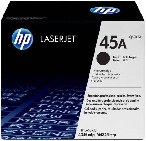 Картридж HP Q5945A для LJ4345mfp 18000стр картридж hp cb323he 178xl cyan для c5383 c6383 b8553 d5463
