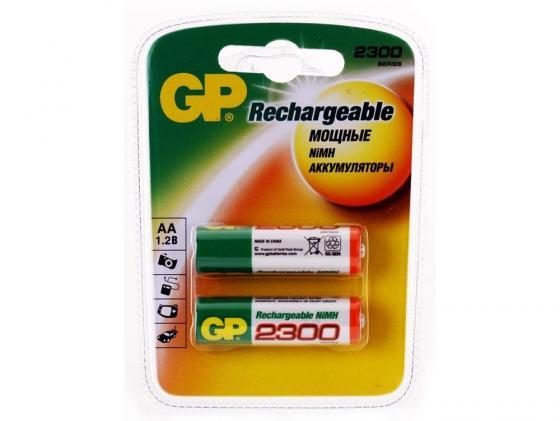 Аккумулятор 2300 mAh GP 230AAHC AA 2 шт аккумулятор 2300 mah gp 230aahc 2cr4 aa 4 шт