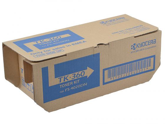 Картридж Kyocera TK-360 для FS-4020DN 20000стр au tk364 manufacturer toner cartridge reset chip for kyocera fs 4020dn 4020 4020dn laser printer