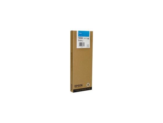 Картридж Epson C13T606200 для Epson Stylus Pro 4880 голубой 220 мл картридж epson c13t580b00 для epson stylus pro 3880 vivid light magenta