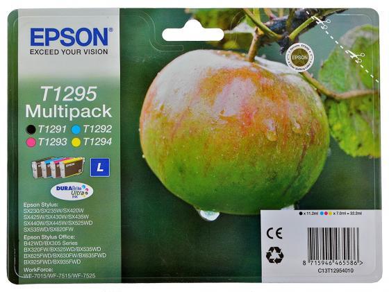 Набор картриджей Epson C13T12954010/С13Т12954012 T1295 Multipack для SX420W BX305F картридж profiline pl 1281 black для epson styluss22 sx125 sx130 sx420w sx425w office bx305f bx305fw