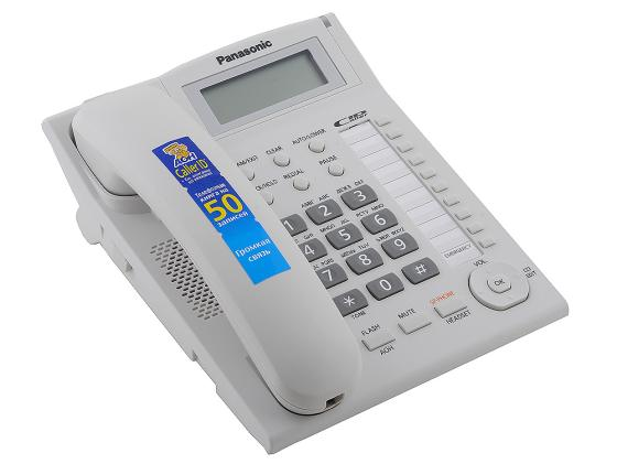 Телефон Panasonic KX-TS2388RUW белый проводной телефон panasonic kx ts2363 белый kx ts2363ruw