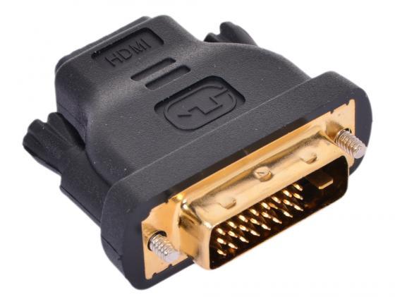 Переходник HDMI F - DVI M VCOM Telecom VAD7818 переходник ningbo hdmi m dvi d f позолоченные контакты черный cab nin hdmi m dvi d f
