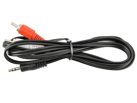 Кабель соединительный 1.5м VCOM Telecom 3.5 Jack (M) - 2xRCA (M) стерео аудио VAV7183-1.5M кабель jack jack roland кабель межблочный стерео jack стерео jack rhc 25 1414 7 5 m