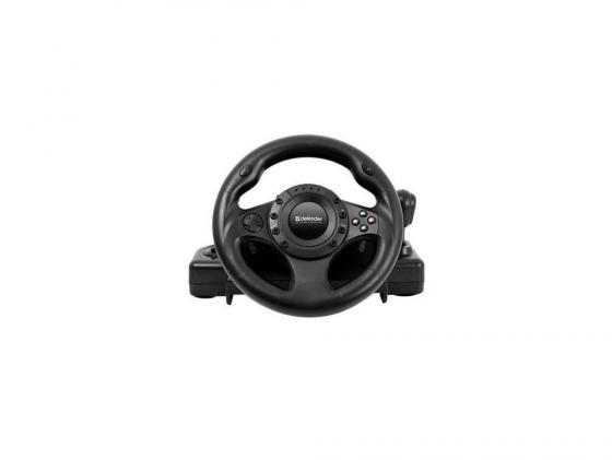 Руль + педали DEFENDER FORSAGE DRIFT GT (USB/PS2/PS3) 12 кн. 64370 руль defender forsage drift gt