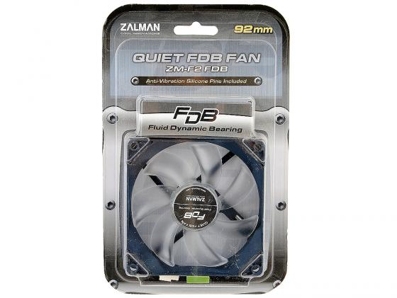 Вентилятор Zalman ZM-F2 FDB/SF 92mm 1300-2000rpm вентилятор zalman zm f3 led sf bl 120mm 1200rpm