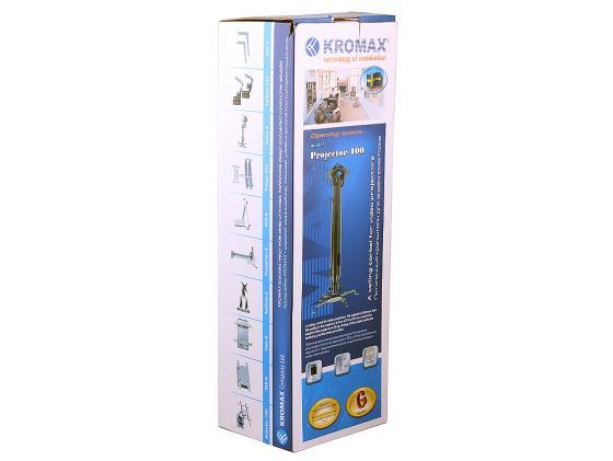 Кронштейн Kromax PROJECTOR-100 серый для проекторов потолочный 3 ст свободы до 20 кг кронштейн для тв kromax star 22