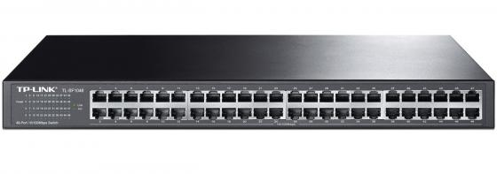 Коммутатор TP-LINK TL-SF1048 48-ports 10/100Mbps коммутатор tp link tl sf1008d 8 port 10 100m mini desktop switch 8 10 100m rj45 ports plastic case
